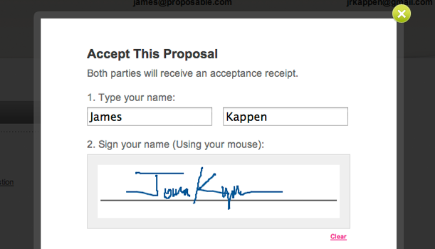 Keywords Electronic Signature and Tags